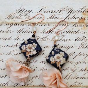 Jewelry - Artisan Handmade Romantic Boho Floral Earrings